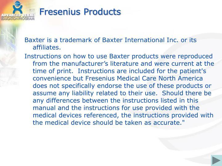 Fresenius Products