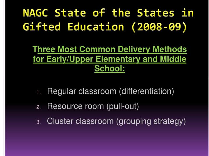 NAGC State of the States in Gifted Education (2008-09)