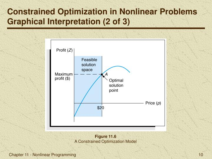 Constrained Optimization in Nonlinear Problems