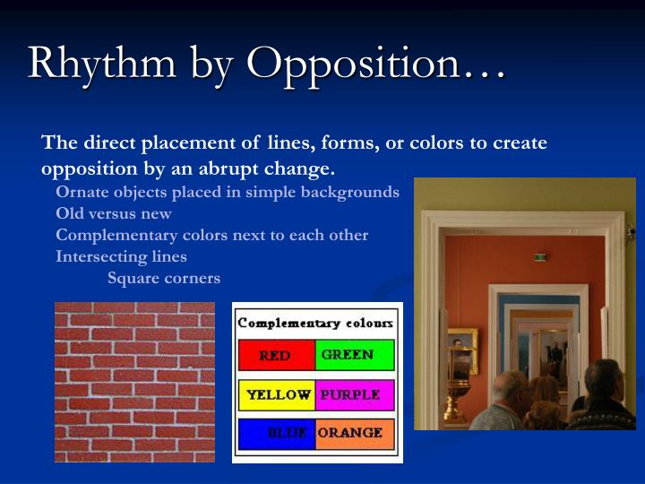 Rhythm by Opposition…