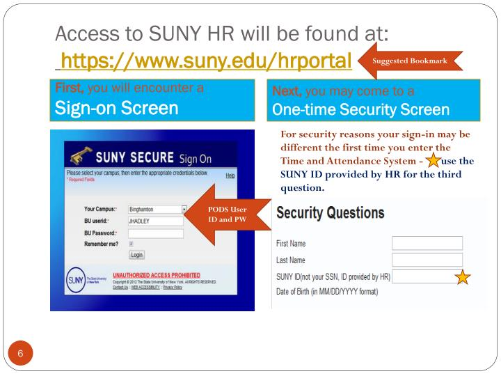 Access to SUNY HR will be found at: