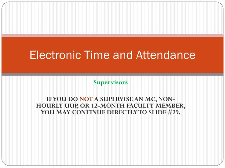 Electronic Time and Attendance