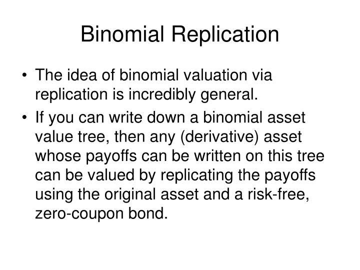 Binomial Replication