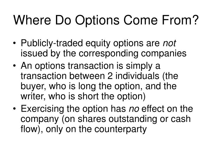 Where Do Options Come From?