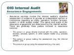 oig internal audit assurance engagements