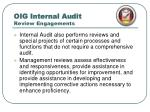 oig internal audit review engagements