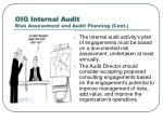 oig internal audit risk assessment and audit planning cont