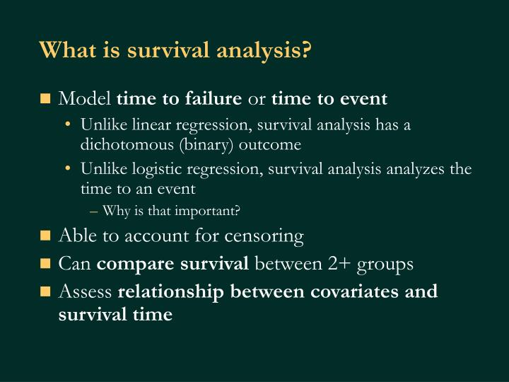 What is survival analysis?