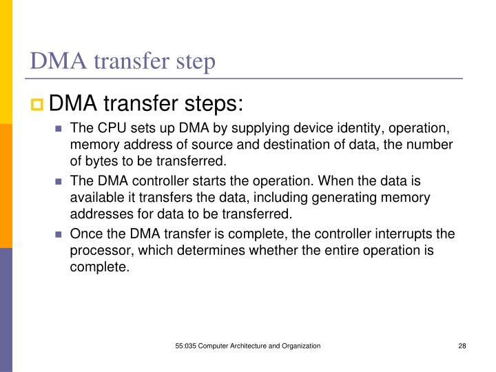 DMA transfer step