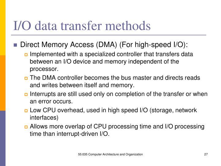 I/O data transfer methods