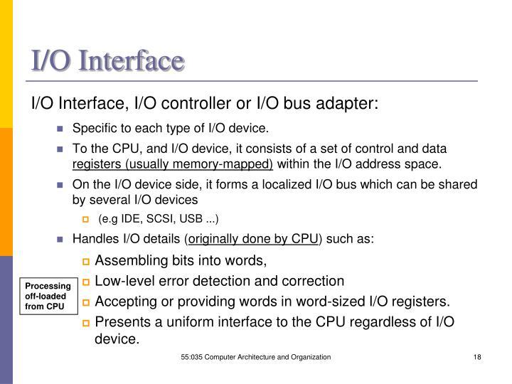 I/O Interface