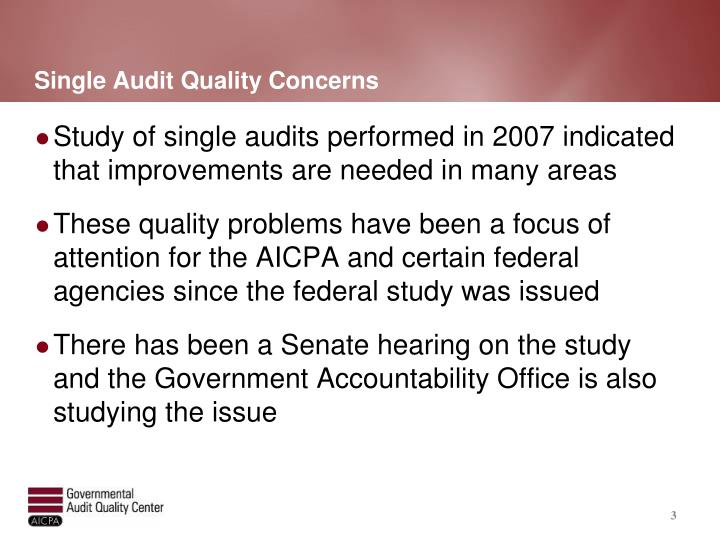 Single Audit Quality Concerns