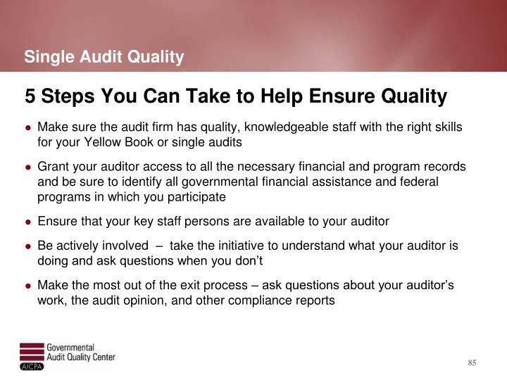 Single Audit Quality