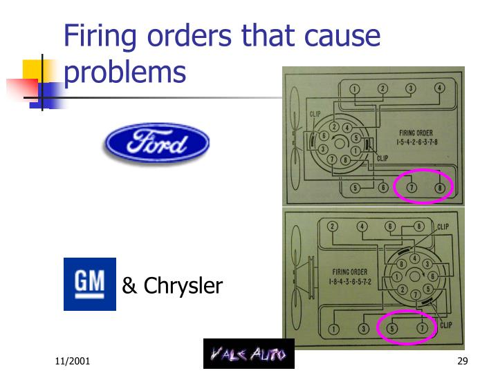 Firing orders that cause problems