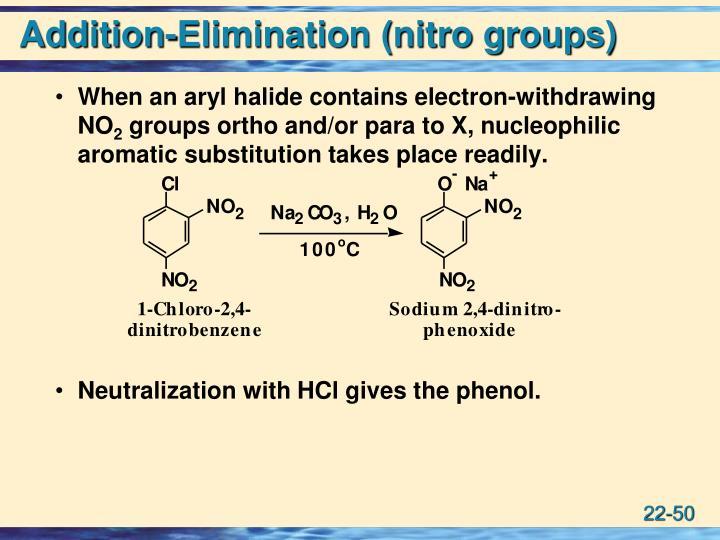 Addition-Elimination (nitro groups)