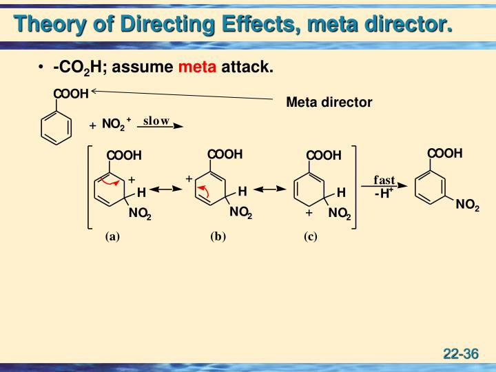 Theory of Directing Effects, meta director.