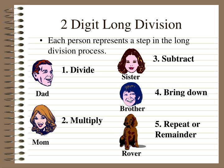 2 Digit Long Division