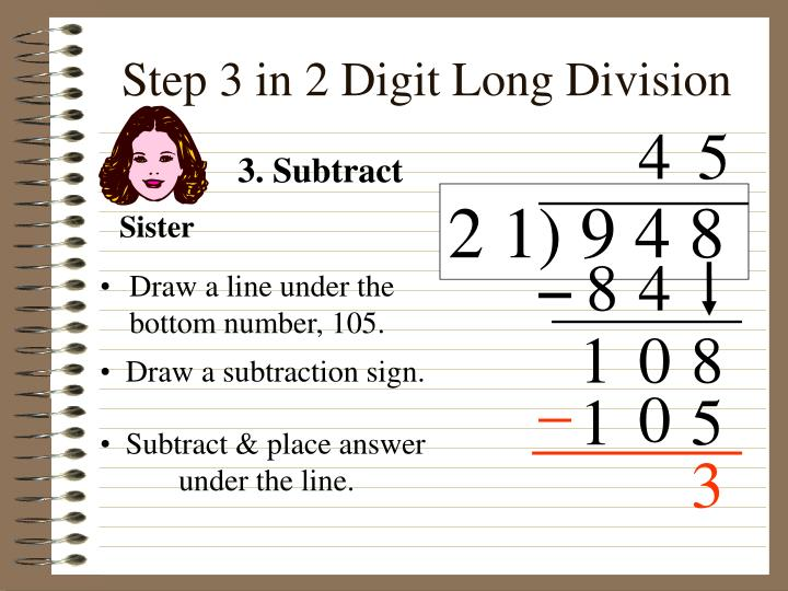 Step 3 in 2 Digit Long Division