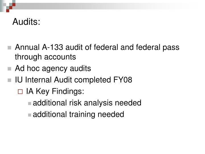 Audits: