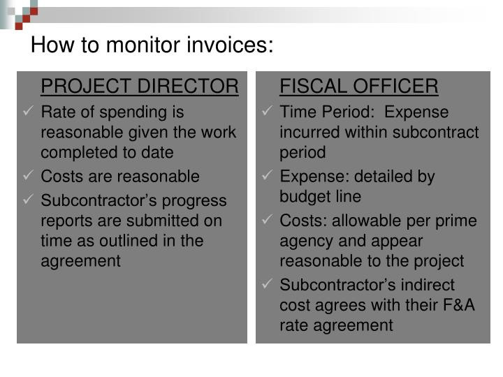 How to monitor invoices: