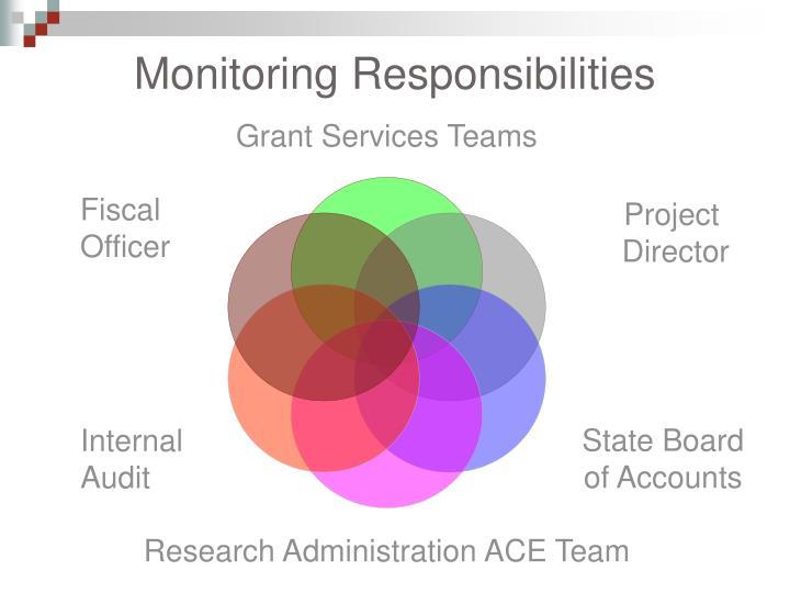 Monitoring Responsibilities