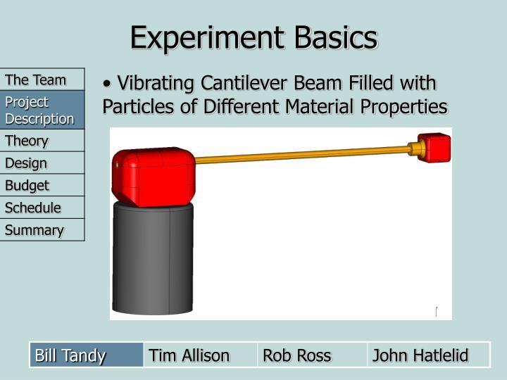 Experiment Basics
