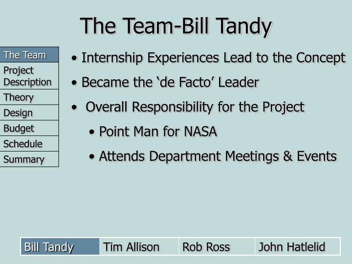 The Team-Bill Tandy