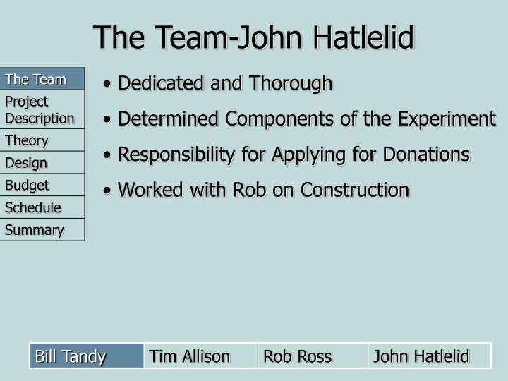 The Team-John Hatlelid