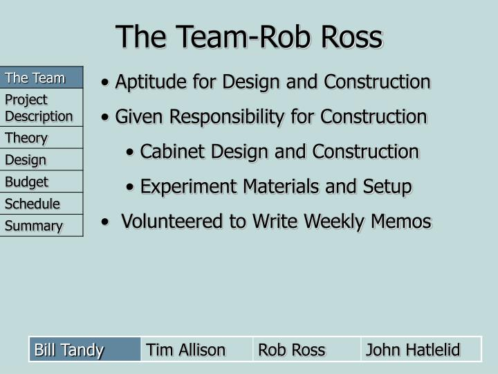 The Team-Rob Ross