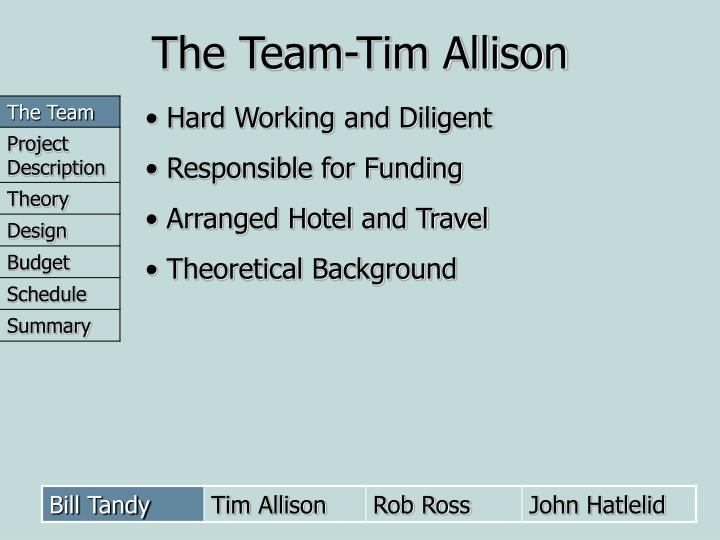The Team-Tim Allison