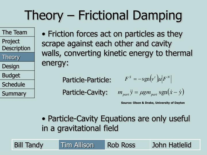 Theory – Frictional Damping
