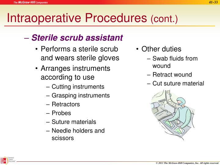 Sterile scrub assistant