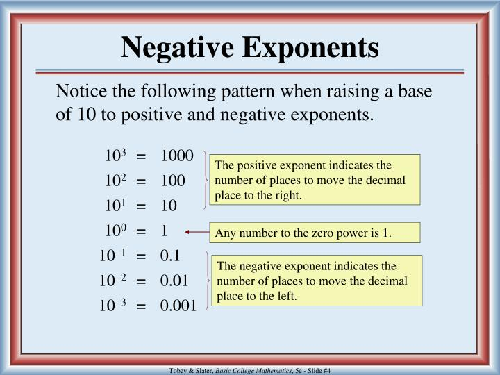 The positive exponent indicates the number of places to move the decimal place to the right.