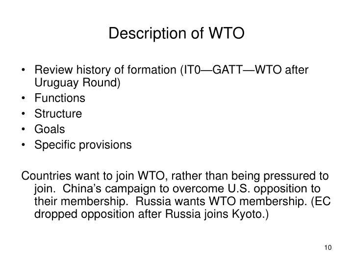 Description of WTO