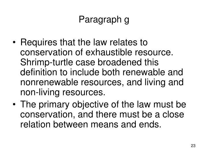 Paragraph g