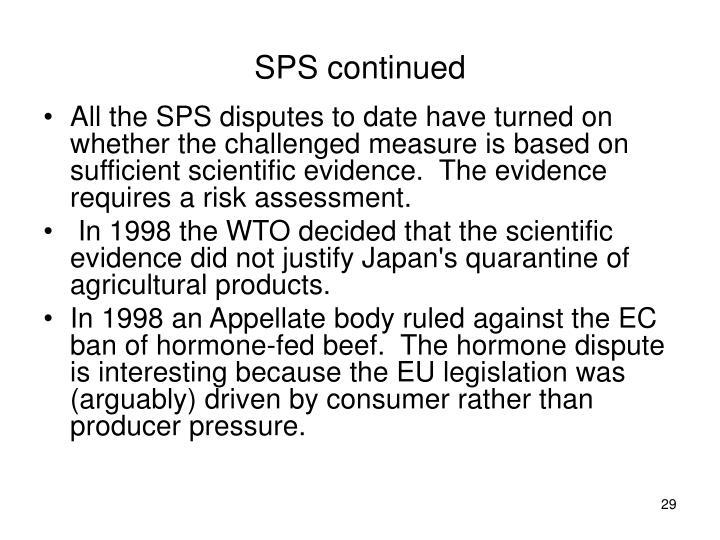 SPS continued
