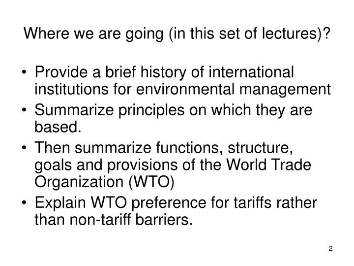 Where we are going (in this set of lectures)?