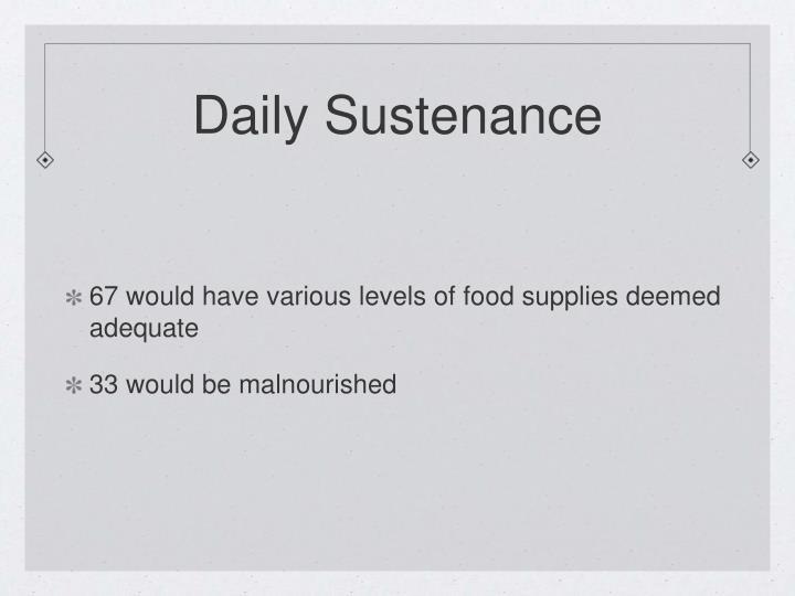 Daily Sustenance