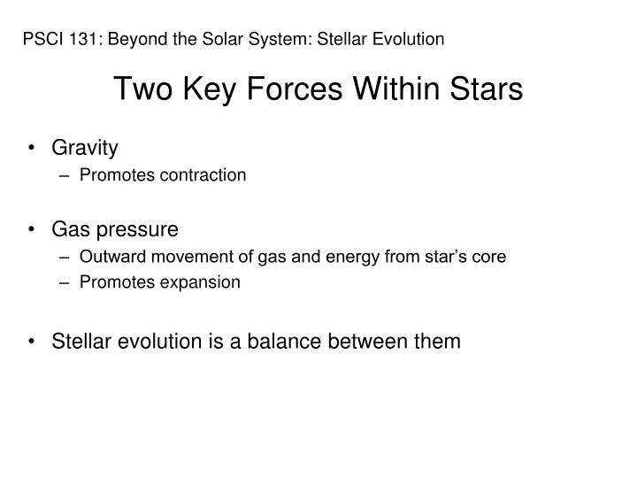 Two Key Forces Within Stars