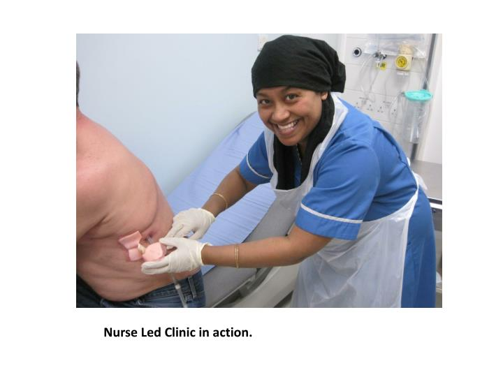 Nurse Led Clinic in action.