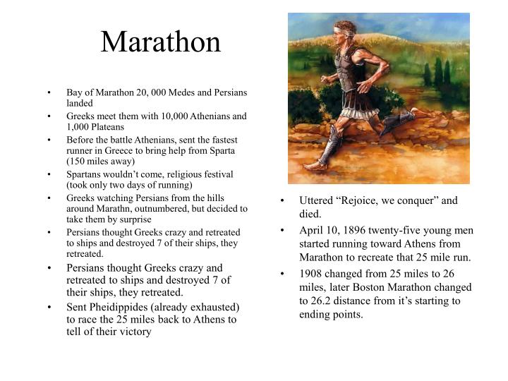 Bay of Marathon 20, 000 Medes and Persians landed
