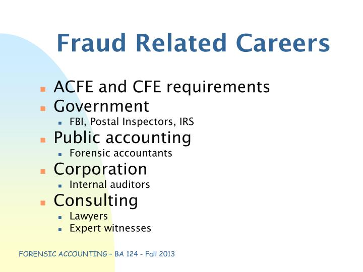 Fraud Related Careers