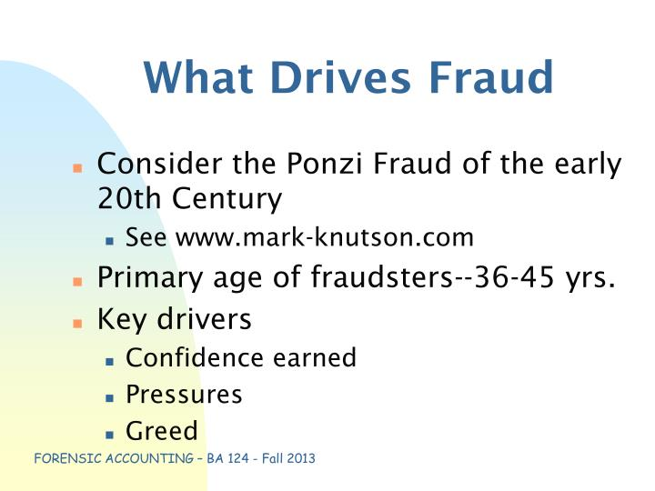 What Drives Fraud