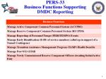 pers 33 business functions supporting dmdc reporting