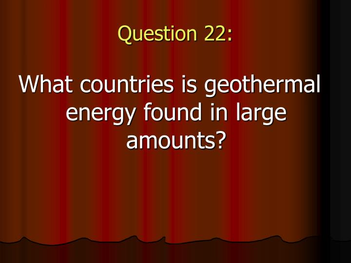 Question 22: