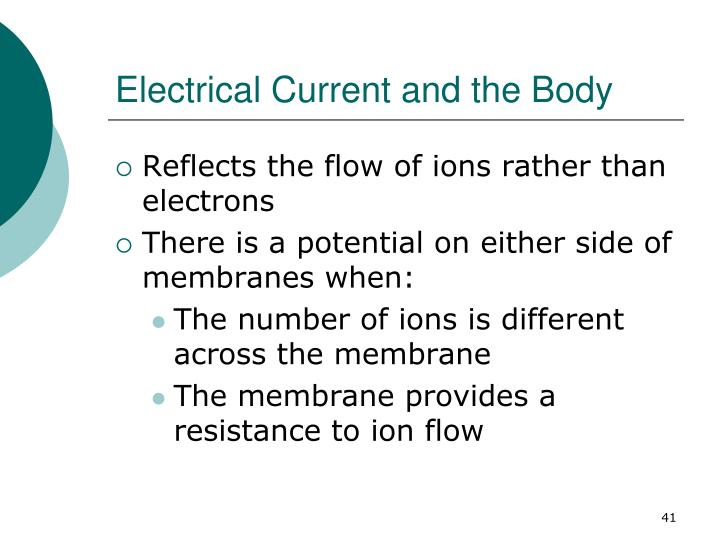 Electrical Current and the Body