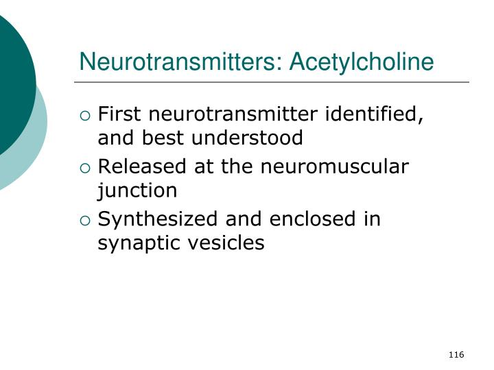 Neurotransmitters: Acetylcholine