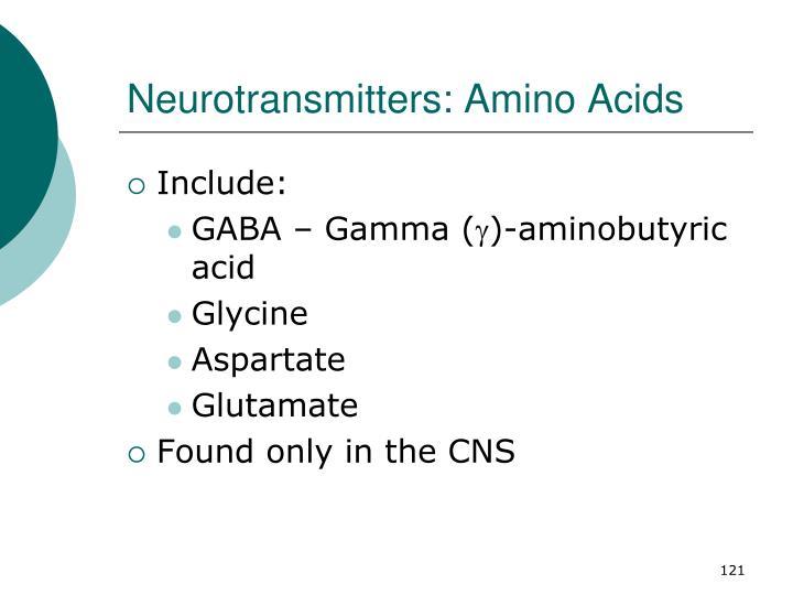 Neurotransmitters: Amino Acids