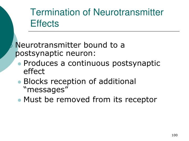 Termination of Neurotransmitter Effects