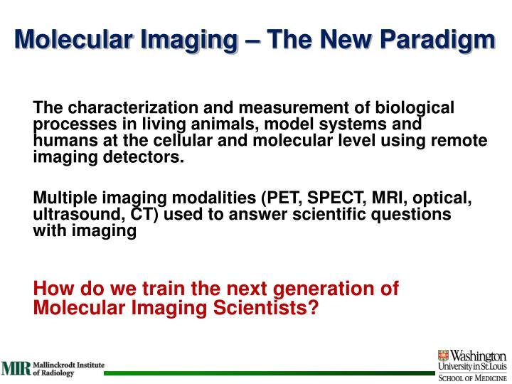 Molecular Imaging – The New Paradigm